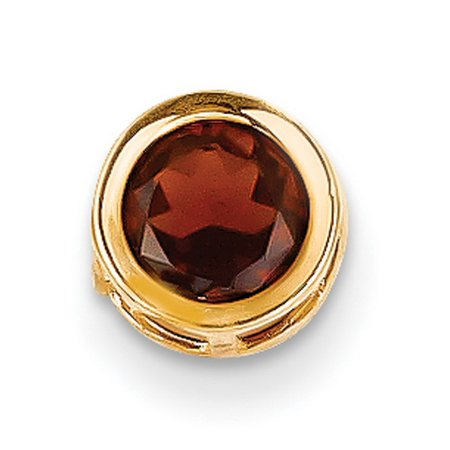 14k Yellow Gold 6mm Garnet bezel pendant