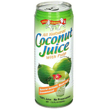 Amy   Brian Coconut Juice With Pulp  17 5Fo  Pack Of 12