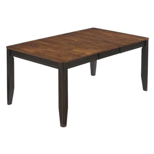 Ashley Alonzo Wood Dining Table In Brown