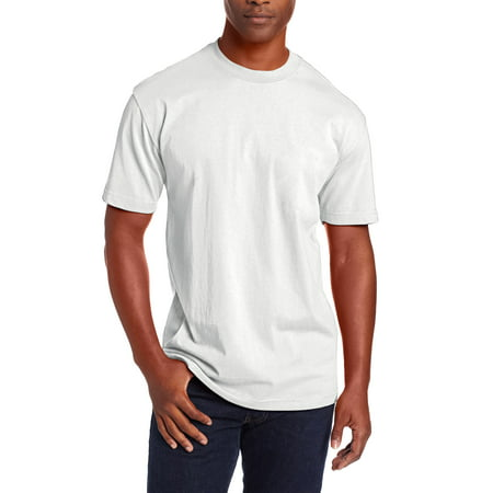 Ma Croix Mens Super Max Heavyweight T Shirts Crew Neck Solid Plain Cotton Tee S-5XL Big and Tall Big Tall Bowling Shirts