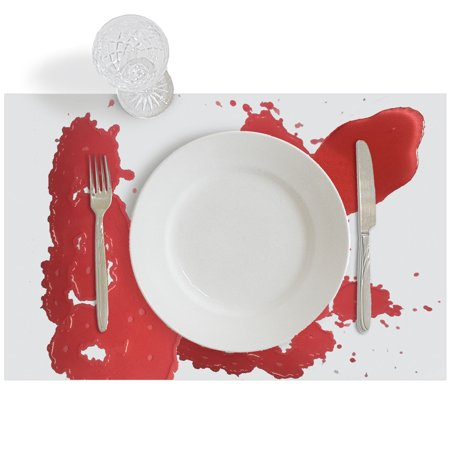 When Is A Halloween (Halloween Table Decorations - 2 Scary Color Changing Bloody Tablecloth Placemats that Turn Red when Wet, Zombie Horror Party Supplies (16 x 36)