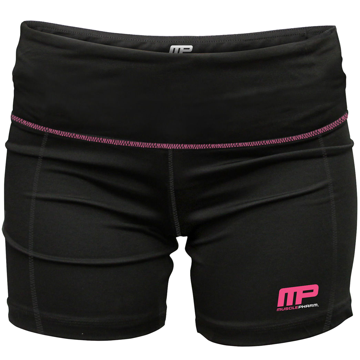 MusclePharm Women's Virus Compression Pro Shorts - Small - Black/Pink