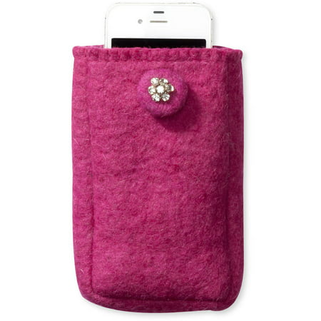 1211c74a3ca6d4 Felt Cell Phone Case by Friends Handicrafts for Global Goods Partners -  Walmart.com
