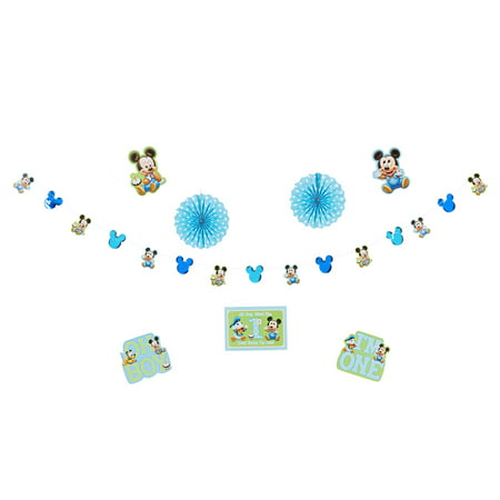 Mickey Mouse First Birthday Party Room Decorating Kit, 10pc - Mickey Mouse 1st Birthday Party Ideas