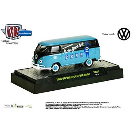 2a44711bf5 1960 DELIVERY VAN USA MODEL (Dove Blue w Black)   M2 Machines Auto ...