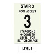 INTERSIGN NFPA-PVC1812(31A3) NFPASgn,StairId3,RoofAccssA,Flr Lvl 3 G0264699