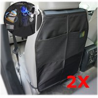 2Pcs Universal Car Seat Back Protector Child Kick Guard Mat Storage Bag for Cars, Trucks, and SUVs.