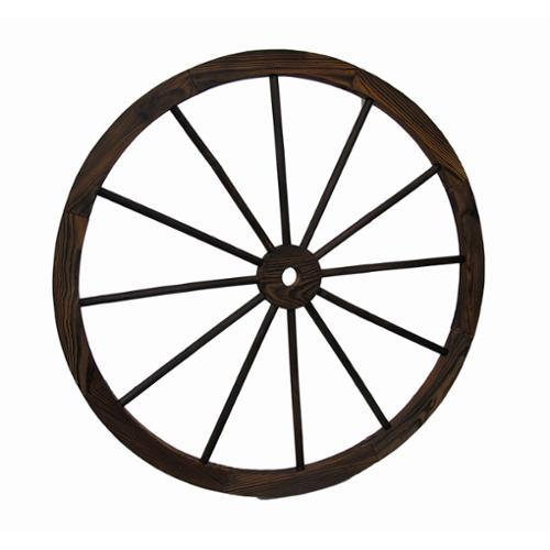 Wooden Wagon Wheel Decorative Wall Hanging 32 in.