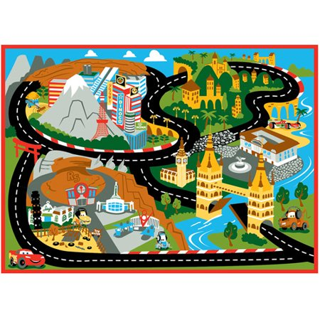 disney cars mount fuji game rug 44 x 315