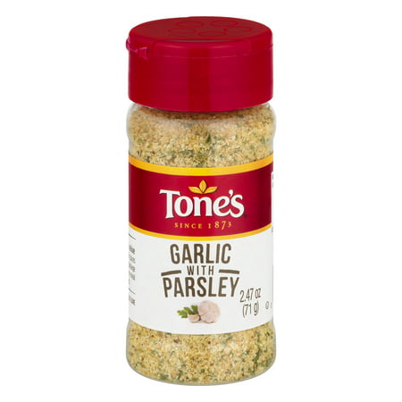 (2 Pack) Tone's Garlic With Parsley, 2.47 OZ