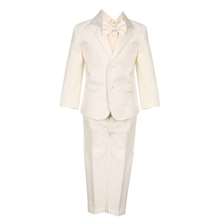 Baby Boys Ivory 5 Piece Vest Jacket Pants Special Occasion Tuxedo