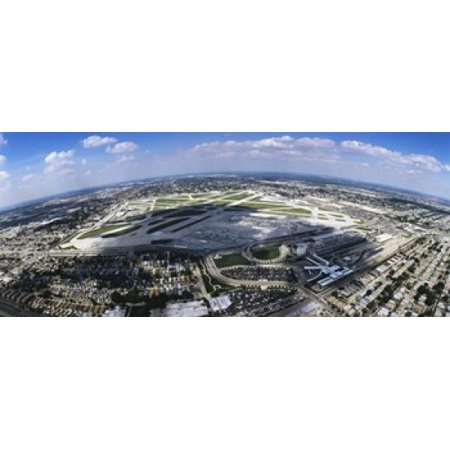 Aerial view of an airport Midway Airport Chicago Illinois USA Canvas Art - Panoramic Images (15 x 6)