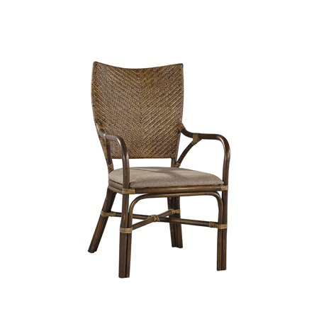 Hyacinth Bamboo and Woven Rattan Arm Chair ()