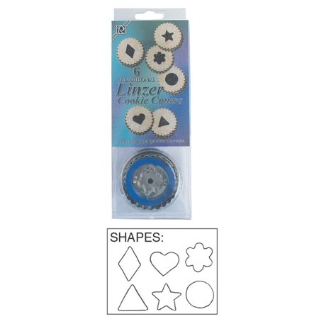 Traditional Linzer Cookie Cutter Set 6 Piece - 1838 - National Cake Supply Cookie Cutters 6 Piece