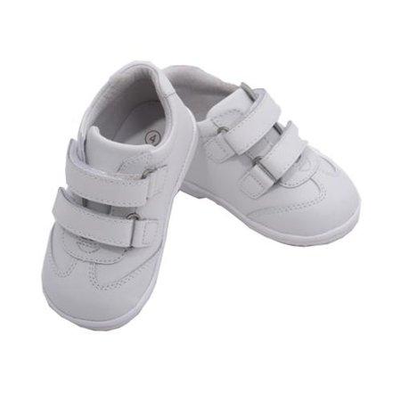 Baby Boys White Double Strap Leather Sneakers 1-3 Baby