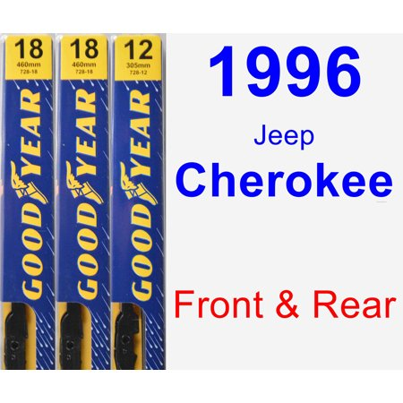 1996 Jeep Cherokee Wiper Blade Set/Kit (Front & Rear) (3 Blades) - Premium