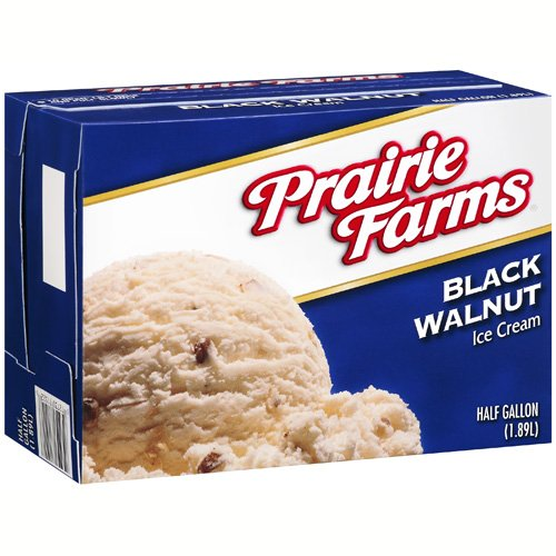 Prairie Farms Black Walnut Ice Cream, 64 oz