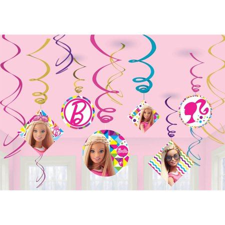 Barbie Sparkle Swirl Decorating Kit (12 Ct) - Party Supplies