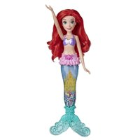 Disney Princess Glitter 'n Glow Ariel Doll with Lights, Mermaid Tail
