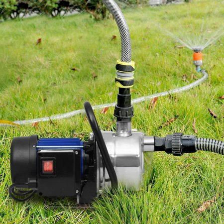 1.6HP 1200W 3200L Practical Booster Automatic Pump Stainless Shallow Well Pump Lawn Sprinkling Pump for Home Garden Irrigation Water Supply -