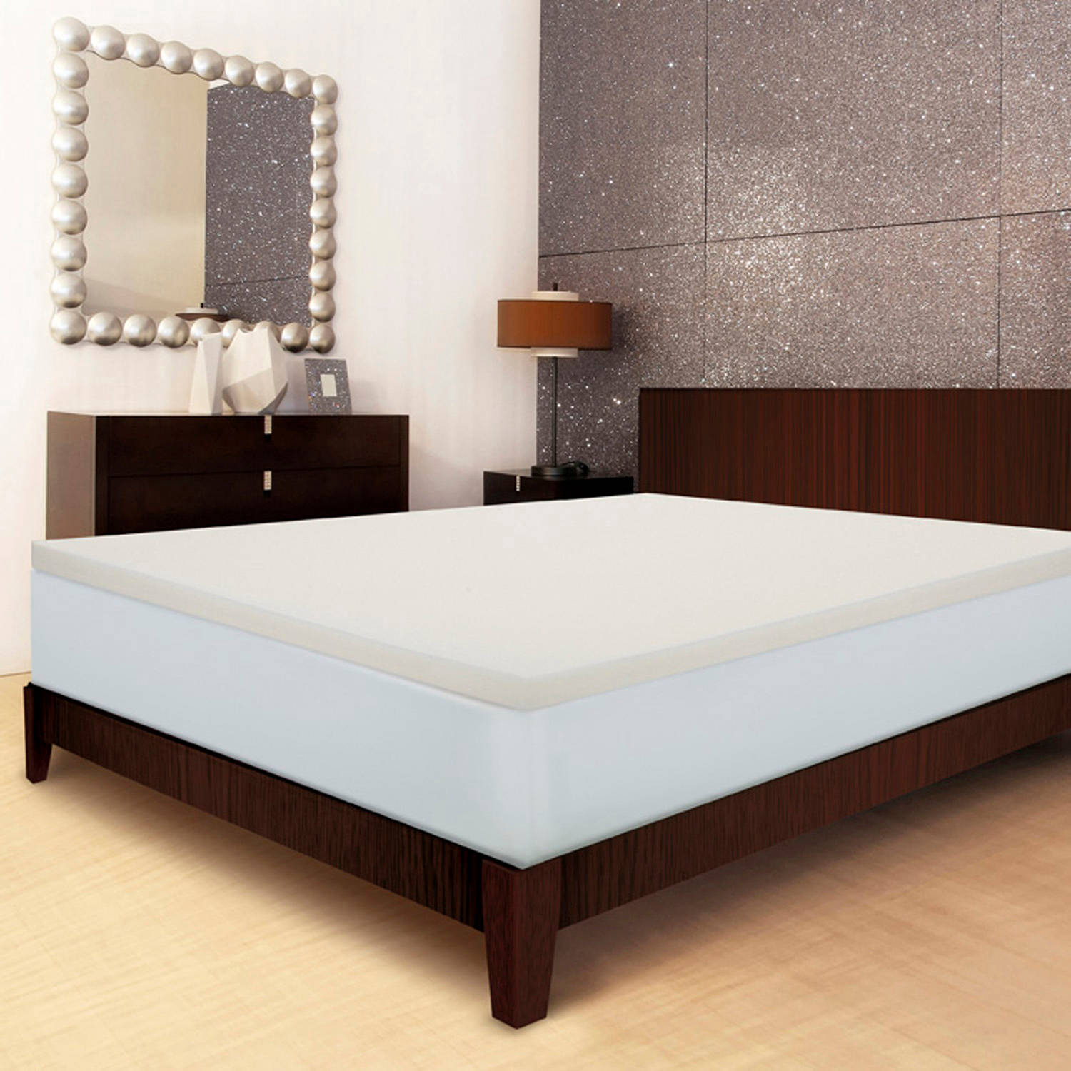 "Sleep Innovations 2"" Memory Foam Mattress Topper"
