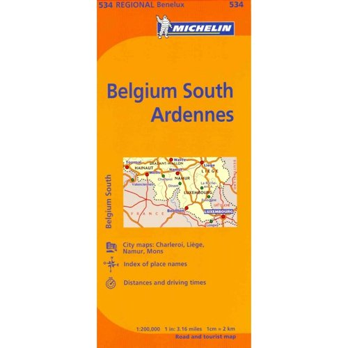 Michelin Map Belgium South Ardennes