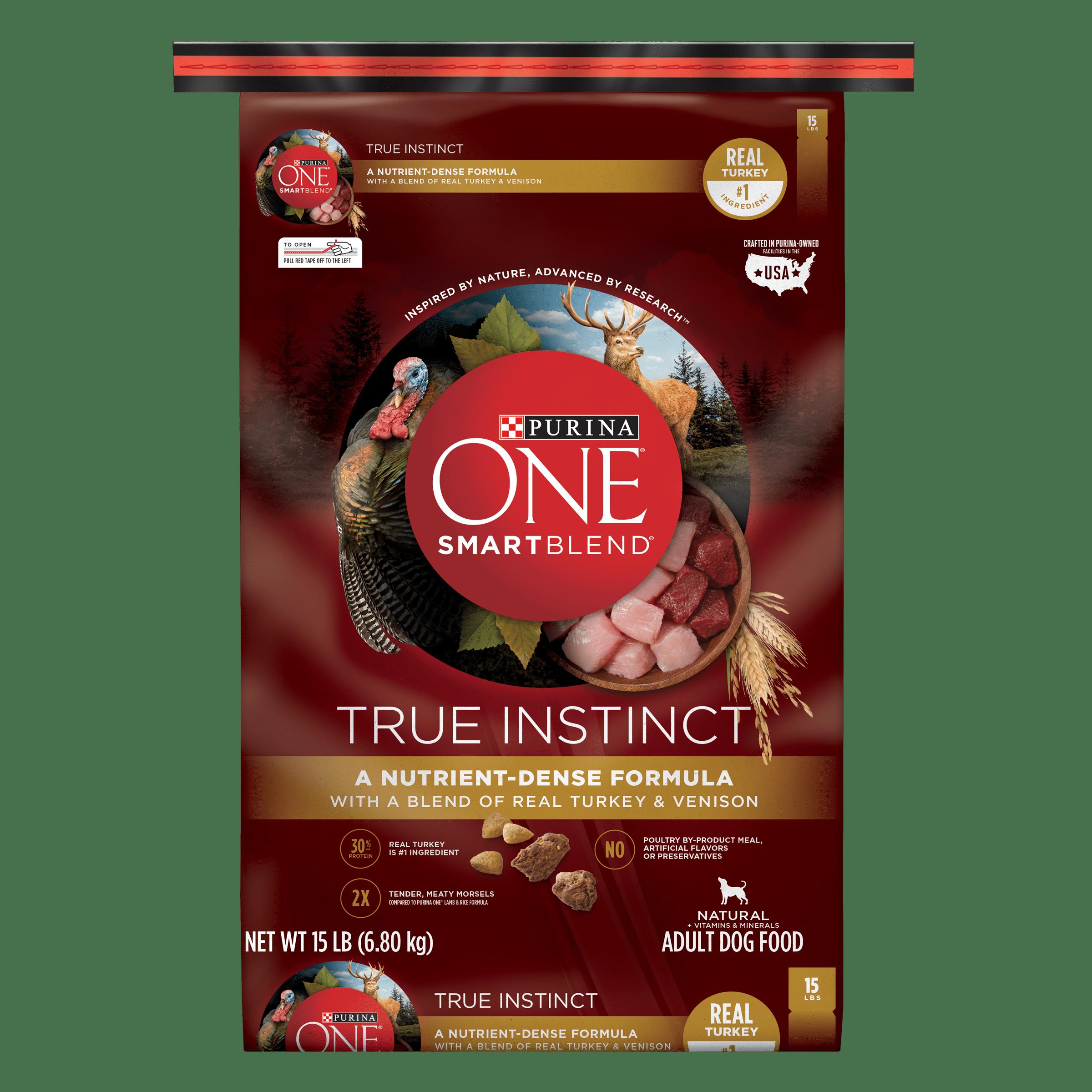 Purina ONE SmartBlend True Instinct Natural With Real Turkey & Venison Adult Dry Dog Food - 15 lb. Bag