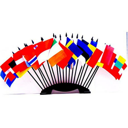 NORTHWEST EUROPE WORLD FLAG SET with BASE--20 Polyester 4