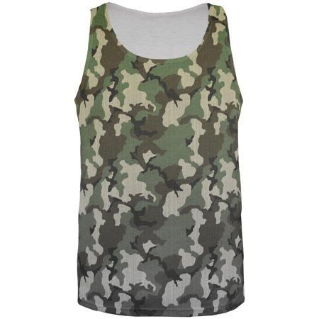 Faded Camo All Over Mens Tank Top