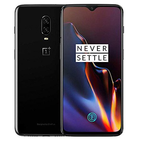 OnePlus 6T A6013 128GB Storage + 8GB Memory, 6.41 inch AMOLED Display, Android 9 - Mirror Black US Version VERIZON + GSM T-Mobile Unlocked Phone (Refurbished) ()