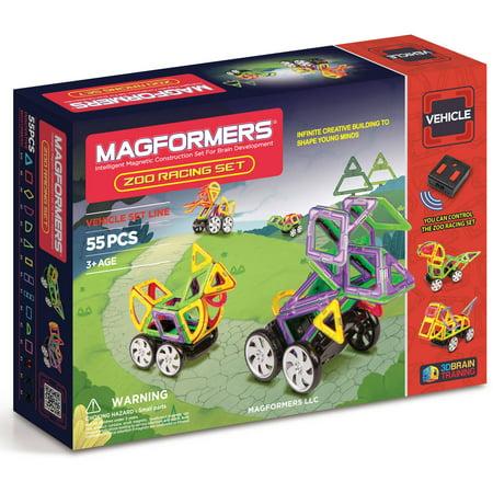 MAGFORMERS Zoo Racing Set 55-Piece Magnetic Construction Set