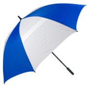 FJWestcott 8208T Wind-Vented Telescoping Golf Umbrella - Royal and White