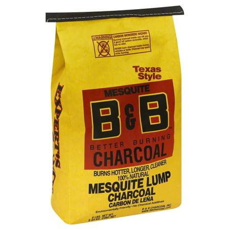B&B Charcoal 8023447 Organic Mesquite Lump Charcoal - 8 lbs