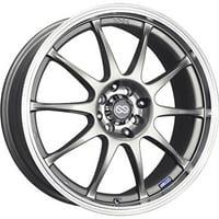 Enkei J10 17x7 4x100/114.3 42mm Silver w/ Machined Lip Wheel - 409-770-10SP