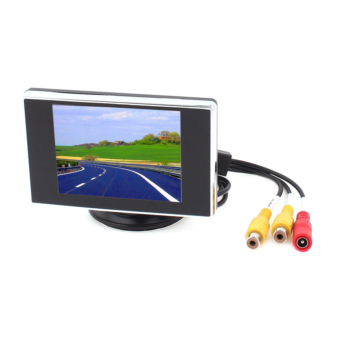 """Unique Bargains 3.5"""" Color LCD TFT Rear View Monitor DVD VCR Video System for Car Back Up Camera"""