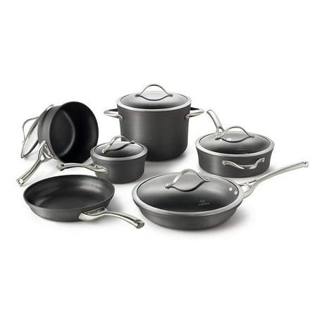 Calphalon Contemporary Hard-Anodized Aluminum Nonstick 11 Piece Cookware Set