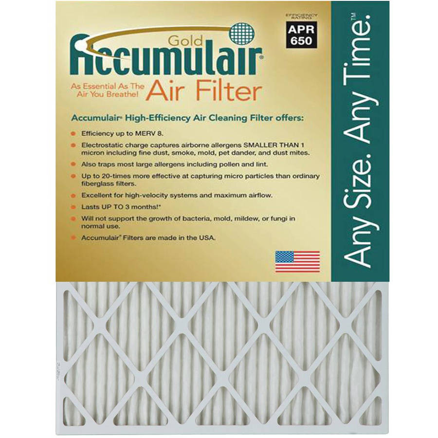 "Accumulair Gold 1"" Air Filter, 4-Pack"