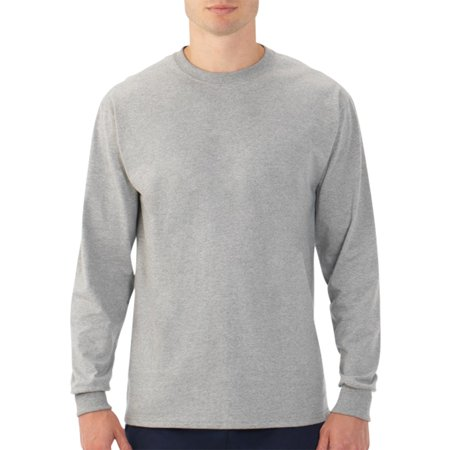 Fruit of the Loom Men's Platinum EverSoft Long Sleeve T-Shirt, Available up to size - 50s Mens Shirts