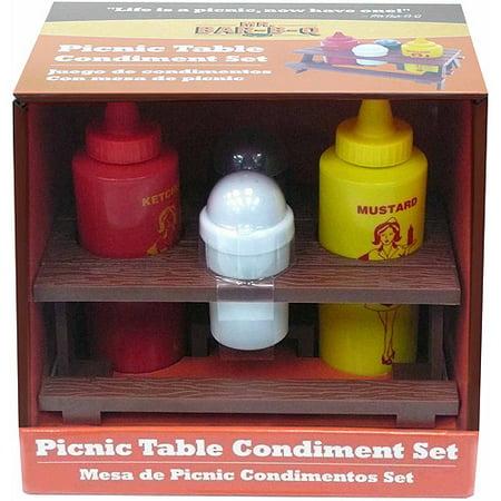 Mr. Bar-B-Q Picnic Table Condiment - Condiment Set