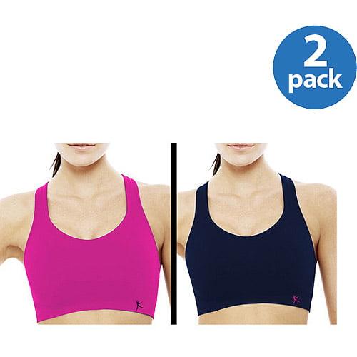 Danskin Now - Women's Seamless Sport Bras, 2-Pack