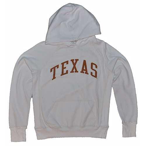 Texas Longhorns Hooded Sweatshirt - Ladies Hoody By League - White