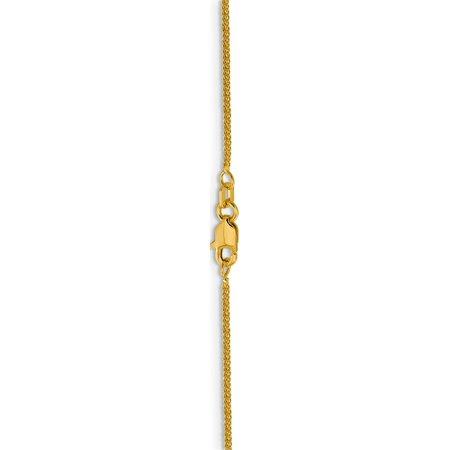 Leslie 14K .8 mm Diamond-cut Quadra Wheat - image 1 of 5