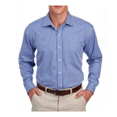 MagnaClick Men Long Sleeve Classic Fit Adaptive Dress Shirt W Magnetic