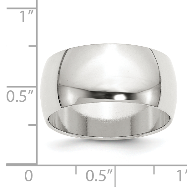 925 Sterling Silver 10mm Half Round Size 8 Wedding Ring Band Classic Fine Jewelry Gifts For Women For Her - image 1 de 2