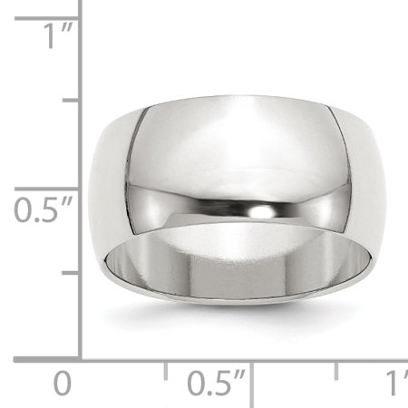 925 Sterling Silver 10mm Half Round Size 4.5 Wedding Ring Band Classic Fine Jewelry Gifts For Women For Her - image 3 de 6