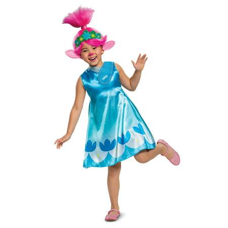 Cars Movie Halloween Costumes (Disguise Trolls Movie Girls Classic Poppy Halloween Costume with Wig)
