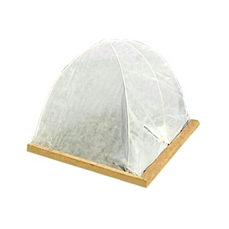 Agfabric Grow Tunnel, 4Ftx20Ft With 2.4Mil Film Special Design For Raised Bed with Clear Plastic Film Covering,Plant Cover &Frost Blanket for Season Extension and Seed Germination ()