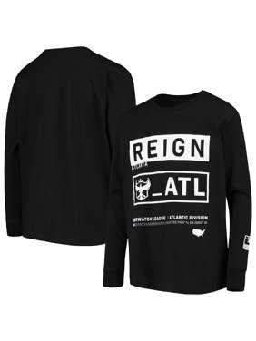 Atlanta Reign Youth Overwatch League Double Down Long Sleeve T-Shirt - Black