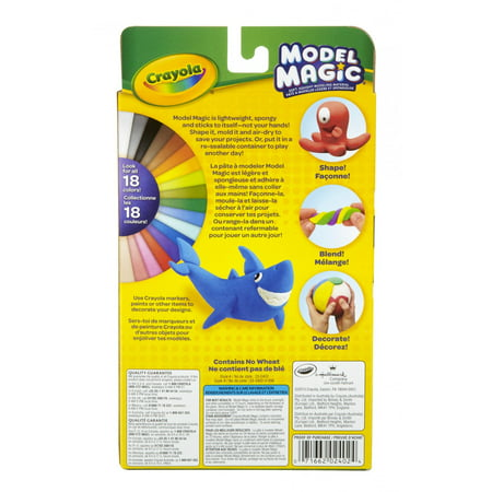 Crayola Magic Clay (Crayola Model Magic, Primary Colors, Clay Alternative For Kids, 3)