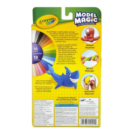 Crayola Model Magic, Primary Colors, Clay Alternative For Kids, 3 oz (Crayola Model Magic)